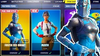 🎄 NEW Frozen Knight FORTNITE ITEM SHOP CHRISTMAS SKINS COUNTDOWN! (Fortnite Battle Royale LIVE)