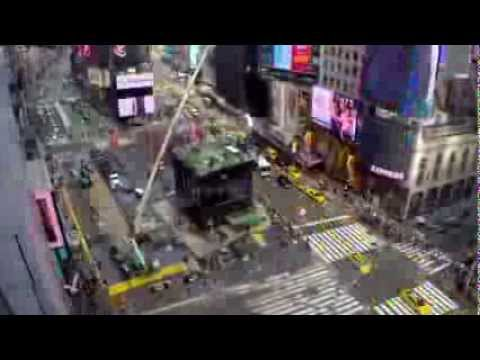 Time Lapse 2 - Large Outdoor Production Broadcast Installation in NYC Times Square by PRG