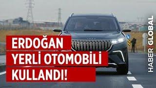 Erdoğan Yerli Otomobili Kullandı! İşte Yerli Otomobilin İlk Sürüşü!