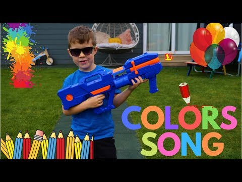 Color Song | Colours Learning Song For Kids - Nursery Rhymes From Sarah Bros