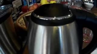 Topop Thé eau en acier inoxydable bouilloire électrique,  Une jolie bouilloire inox qui chauffe rapi