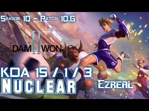 DWG Nuclear EZREAL Vs VARUS ADC - Patch 10.6 KR Ranked