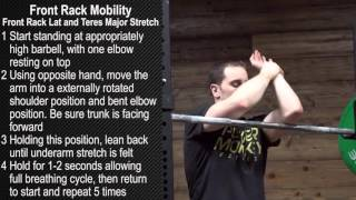 Front Rack Mobility - Front Rack Lat and Teres Major Stretch