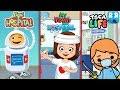 Best App Pretend Play Hospital for Kids !! Toca Hospital, Pepi Hospital and My Town Hospital