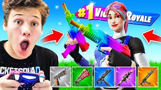 INSANE RAINBOW Weapon Challenge! Fortnite