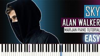 How To Play: Alan Walker & Alex Skrindo - Sky | Piano Tutorial EASY