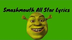 SMASHMOUTH ALL STAR LYRICS (shrek)