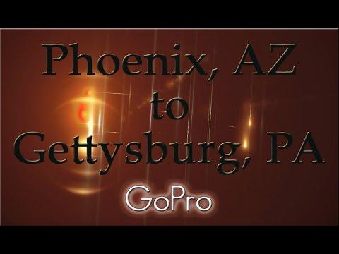 Phoenix, AZ to Gettysburg, PA. An RV trip across the United States.