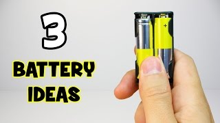 3 Useful things can be made with batteries | Battery Tricks