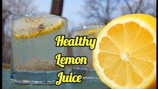 Healthy Lemon Juice   Refreshing Drink for Summer   Chia seeds   naranga vellam recipe