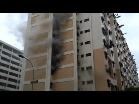 Fire in Hougang SINGAPORE