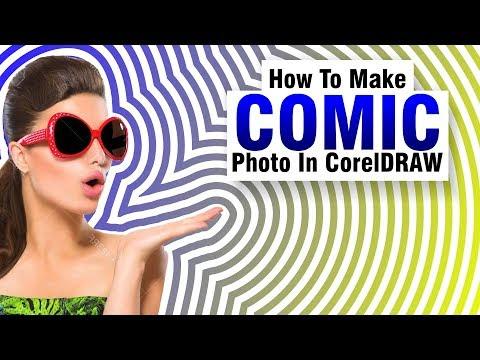 Coreldraw tutorial | Make Comic Photo Effect | Urdu + Hindi | By @AnasGraphics
