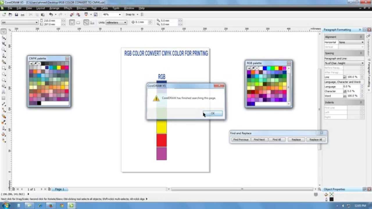 Line color in coreldraw -  1 Rgb To Cmyk Conversion Color Conversion How To Convert Rgb Colors To Cmyk In Coreldraw