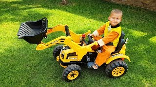 Unboxing And Assembling The POWER Wheel Funny Paw Patrol Rubble Ride On New Yellow Tractor