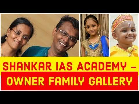 Shankar IAS Academy Owner Family Gallery | Wife Vaishnavi | Daughters