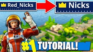 Comment obtenir un NOM OG dans Fortnite: Battle Royale! (Tutorial)