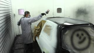 Autolack füllern | VW Golf Restauration