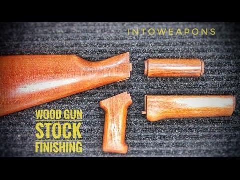 GSG AK47 22lr Finishing Wood Stock & Handguards