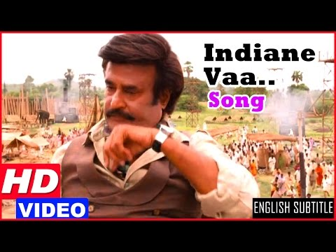Lingaa Tamil Movie Songs HD | Rajinikanth convinces the villagers to build dam | Indiane Vaa Song HD