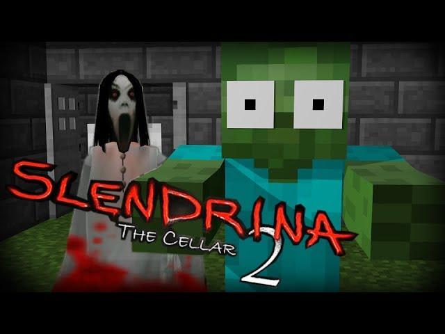 Monster School:  SCARY SLENDRINA THE CELLAR 2 CHALLENGE - Minecraft Animation
