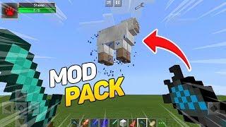 COMO BAIXAR E INSTALAR 6 MELHORES MODS NO MINECRAFT PE !! (Minecraft Pocket Edition)