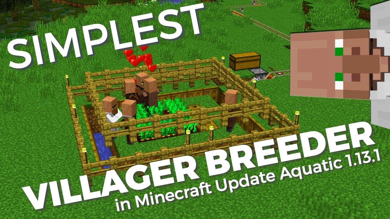 How To Make A Simple Villager Breeder In Minecraft 1 13 Update Aquatic Infinite Villager Breeder Youtube