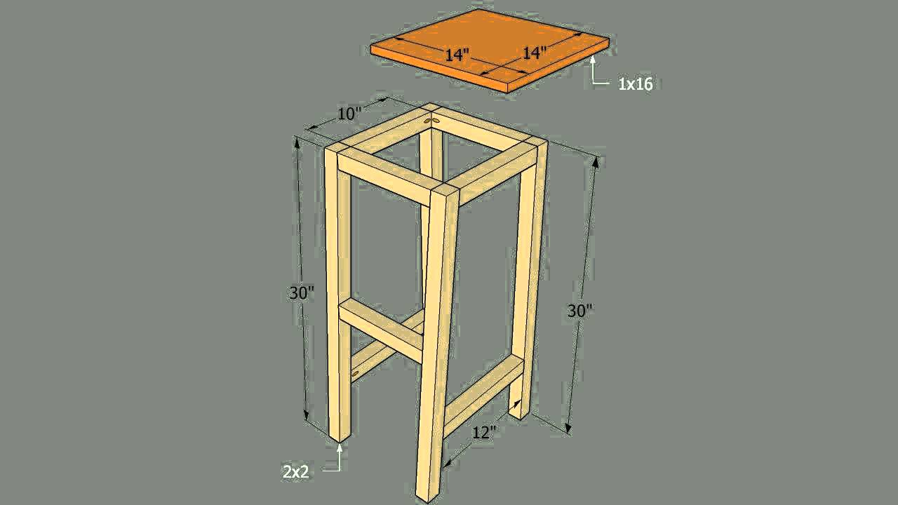 How to Build Bar Stools With Four Legs Youtube