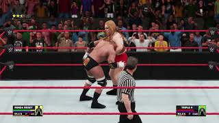 Combate Simulado De Ronda Rousey Vs Triple H Diva Vs Superstar En WWE 2K18 En Ps4