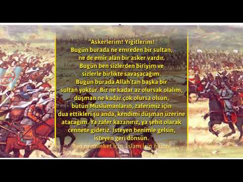 1071 MALAZGİRT ZAFERİ // SULTAN ALPARSLAN'IN ORDUSUNA HİTABI VE DUASI