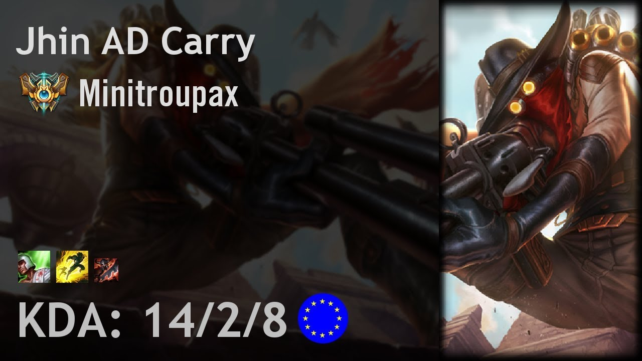 Jhin AD Carry vs Tristana - Minitroupax - EUW Challenger Patch 7.20 -  Auclip.net | Hot Movie | Funny Video | Your most vivid video collection