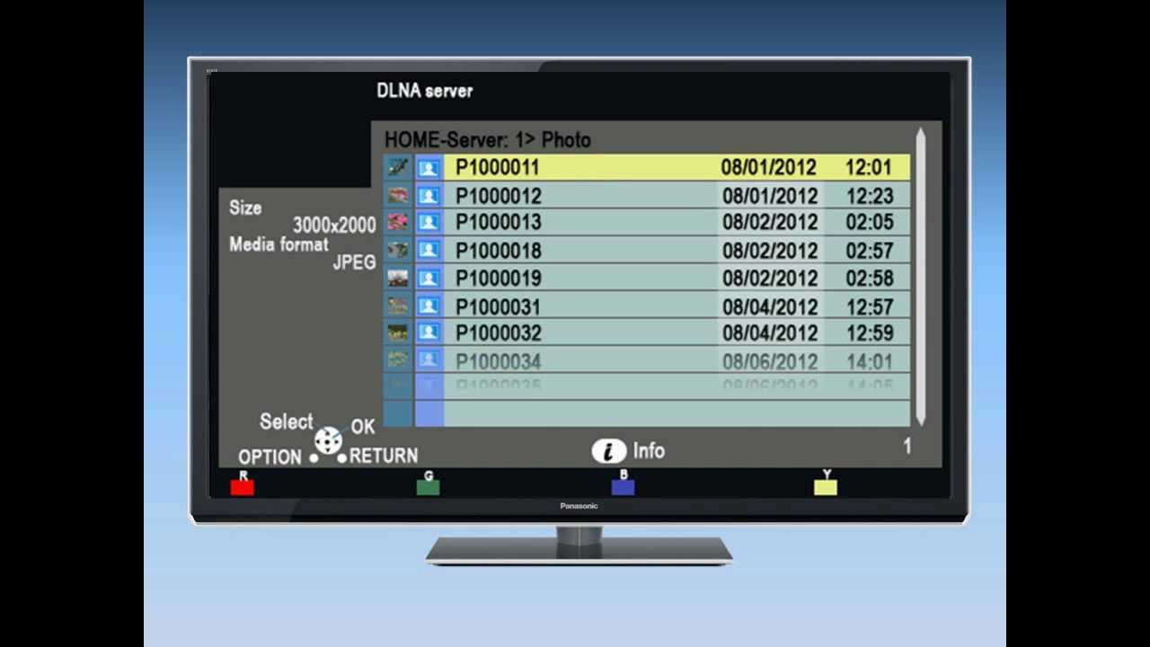 Panasonic VIERA - How to use DLNA and Media Player on your VIERA ...