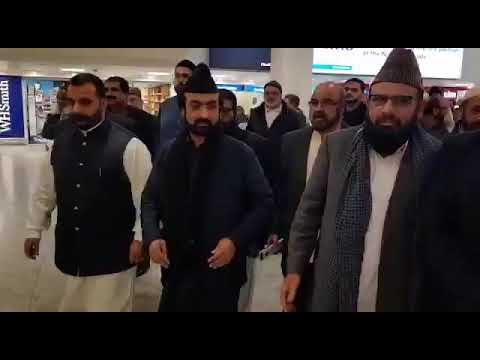 WELL COME OF PIR SYED GHULAM QUTAB UL HAQ GILLANI SAAB OF GORLA SHARIF AT LONDON HEATHROW AIRPORT