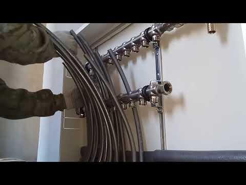 Подключение радиаторов и гребенки трубой