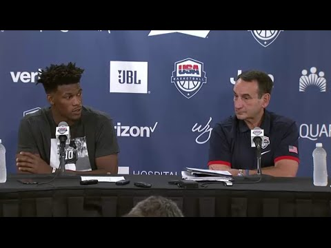 Jimmy Butler and Coach K Interview - 2016 Team USA Basketball