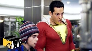 BTS 🎬 Making of 'Shazam!' w/ Zachary Levi, Asher Angel, Mark Strong & More | MTV News