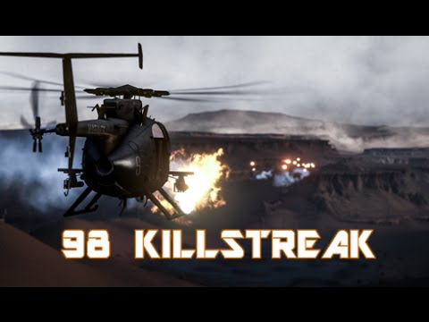 98 KILLSTREAK BATTLEFIELD 4: AH-6J Little Bird PS4 Gameplay