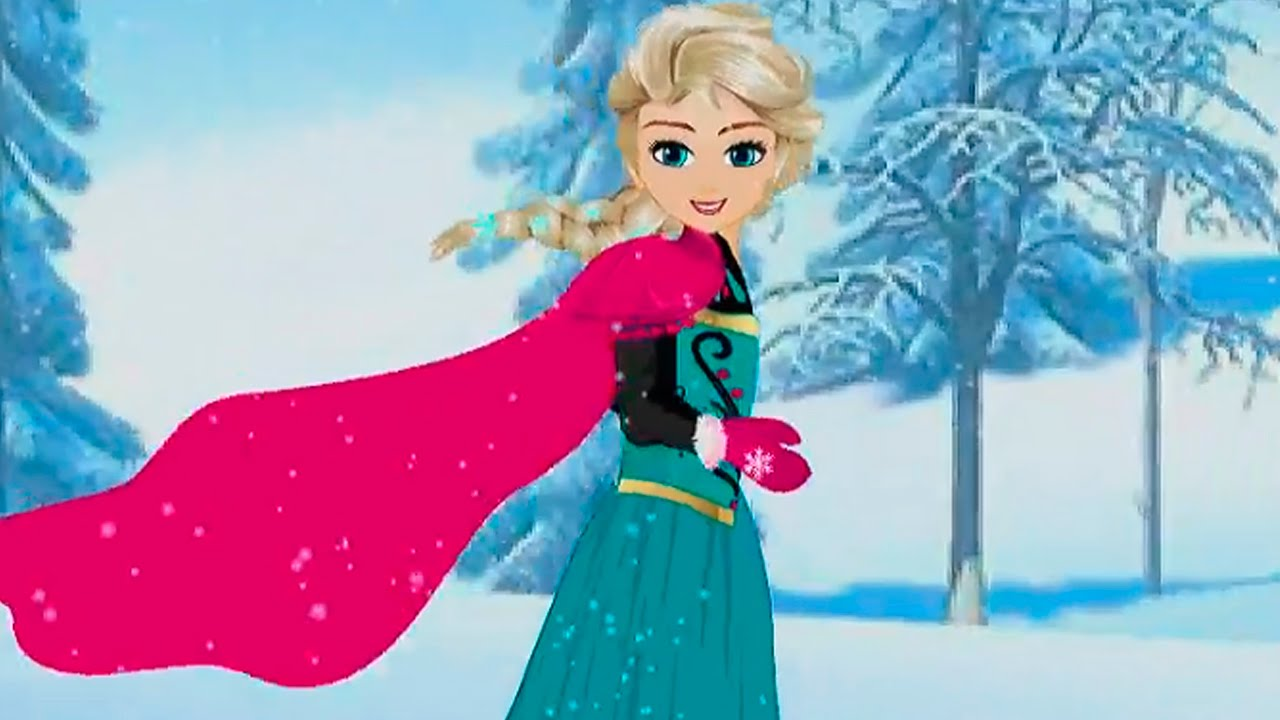 Disney Princess Frozen Baby Elsa Skating Accident Anna