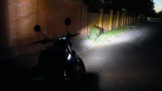 Светодиодная лампа BA20D с Алиэкспресс на китайский мотоцикл ABM X-MOTO RX200!