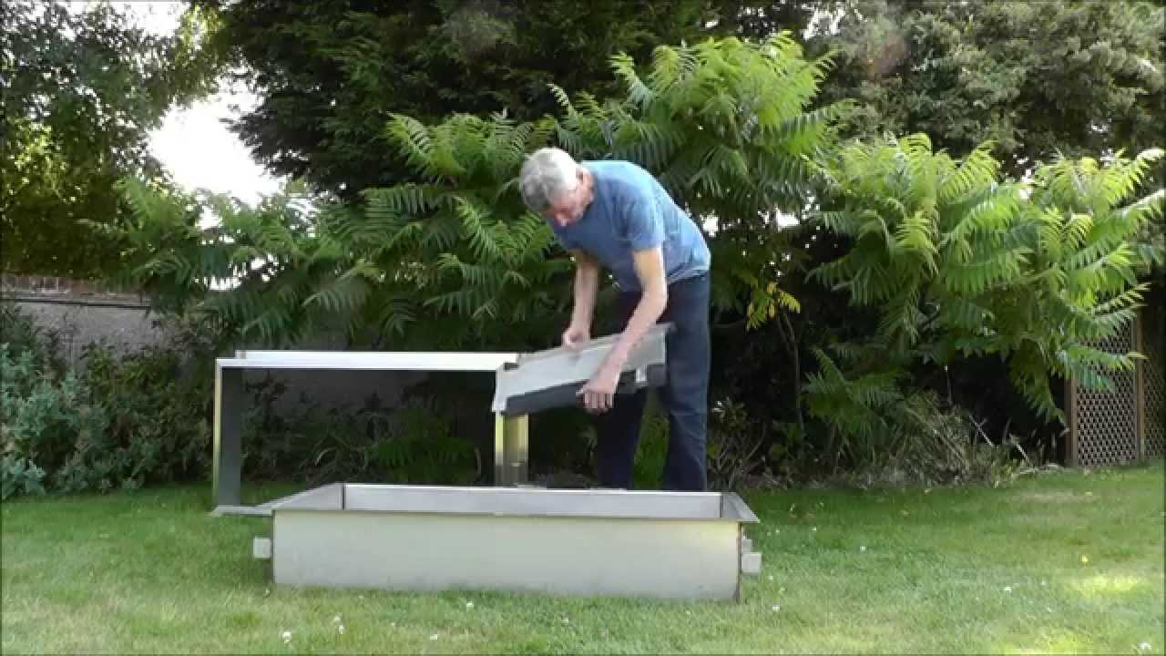 How to seal a koi pond window atlantica gardens youtube for Koi pond window