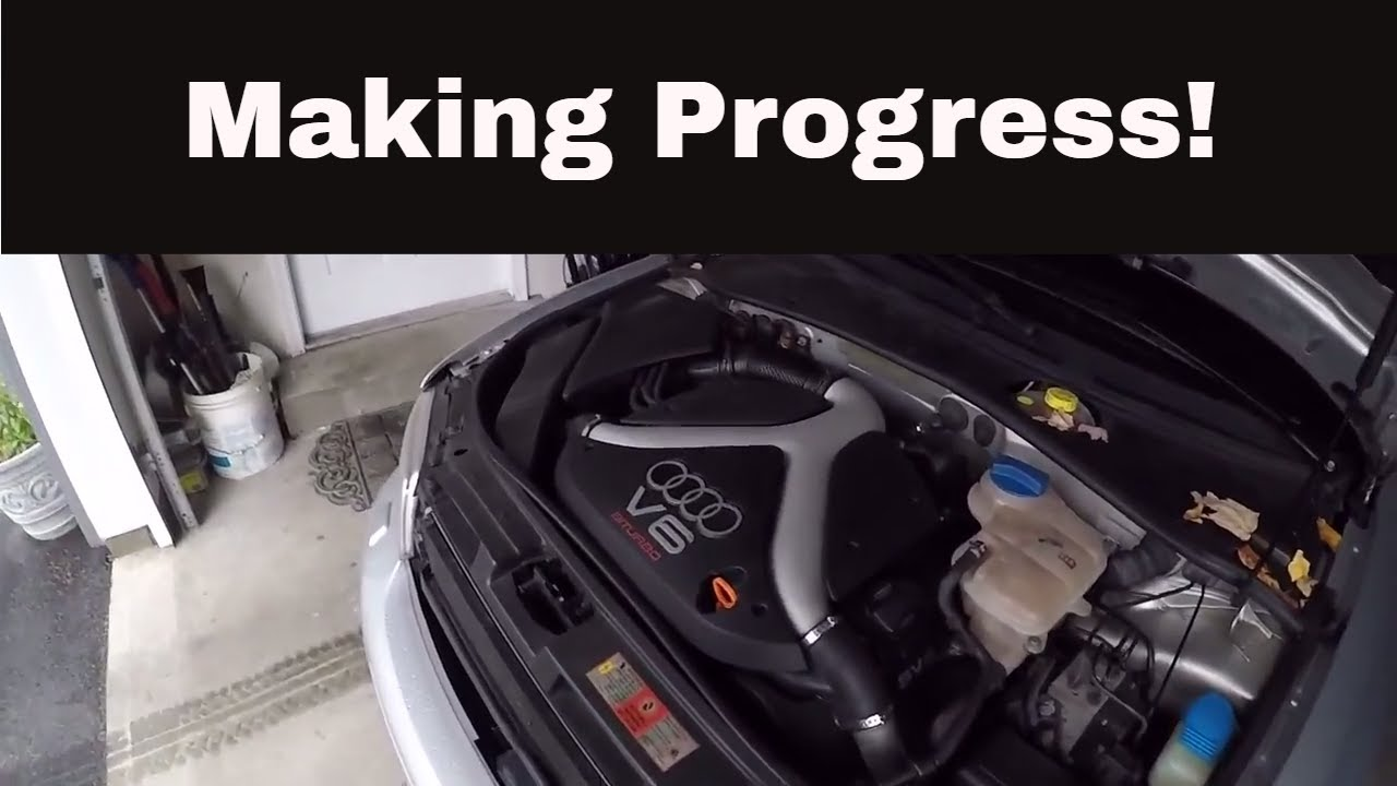 2001 Audi B5 S4 Build Part 3 - Camshaft Positioning Sensor Install!