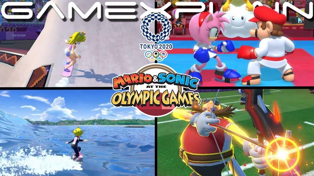 Mario Sonic Aux Jeux Olympiques De Tokyo 2020 S Illustre