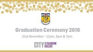 City Of Glasgow College November Graduations 2016