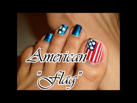 Inspiracion Bandera Americana Para Las Uñas De Los Pies Easy Toe