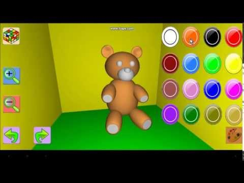 Painting 3D Objects - Android Mobil Games (3D Obje Boyama Oyunu)