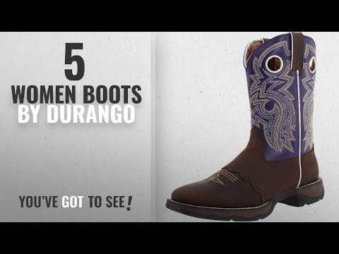Top 10 Durango Women Boots [2018]: Durango Women's Flirt With Durango 10 Inches Saddle Western
