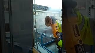 Prvotní broušení poškrábaného skla|www.lestimeskla.cz