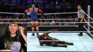 WWE Smackdown 7/2/15 Ryback vs Mark Henry