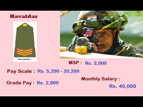 Indian Army Ranks & Monthly Salary ( GD Entry - JCO/ OR ) 2017