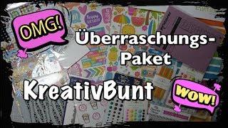 Ü Paket KreativBunt Wert 50€, Überraschungspaket, Scrapbook basteln mit Papier, DIY