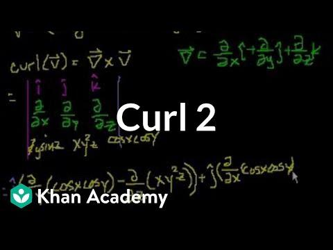 Curl 2 | Partial derivatives, gradient, divergence, curl | Multivariable Calculus | Khan Academy